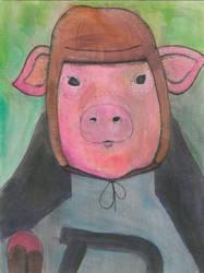 Vintage Footballer Piggy