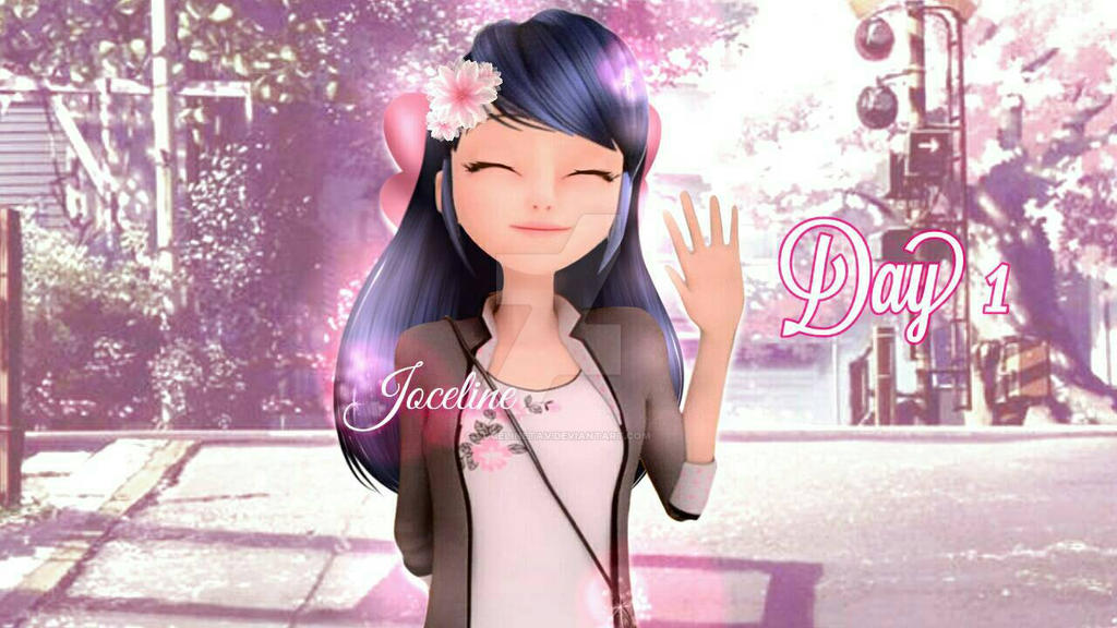Marinette with long hair Day 1!  by Jocelinetav