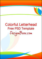 Colorful Letterhead Free PSD Template by mansy-graphics
