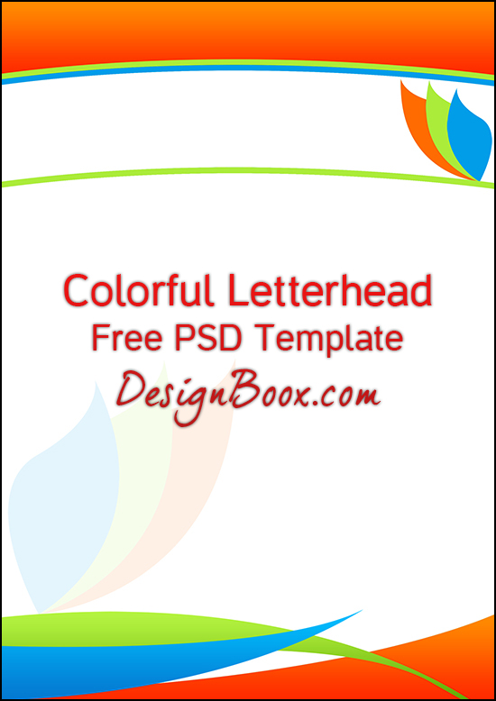 Colorful Letterhead Free Psd Template By MansyGraphics On Deviantart