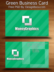Green Business Card Free PSD by mansy-graphics