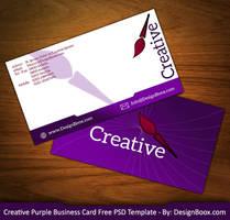 Creative Purple Business Card Free PSD Template