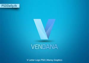 V Letter Logo Free PSD Template