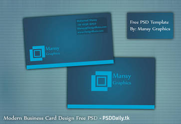 Modern Business Card Design Free PSD by mansy-graphics