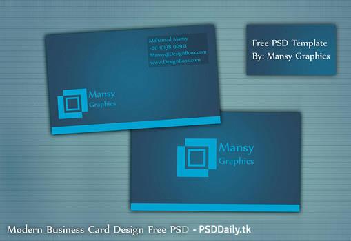Modern Business Card Design Free PSD