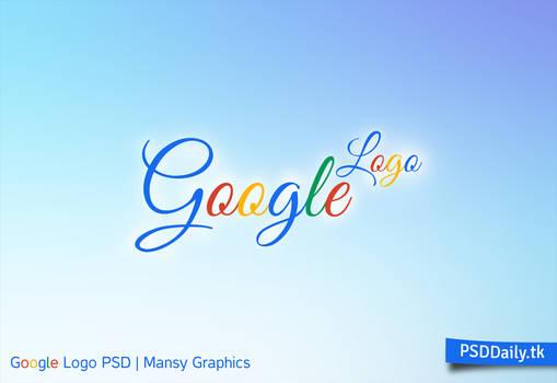 Stylish Google Logo PSD Design