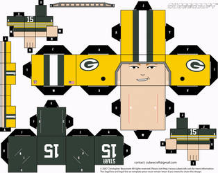 Bart Starr Packers Cubee by etchings13