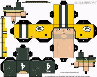 Brett Favre Packers Cubee by etchings13