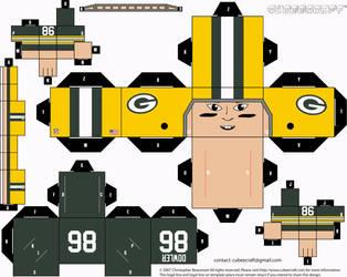 Boyd Dowler Packers Cubee by etchings13