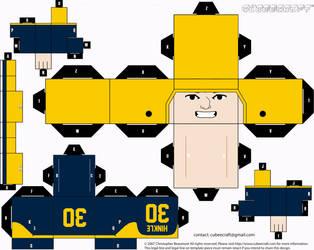 Clarke Hinkle Packers Cubee by etchings13