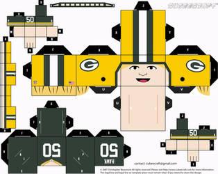AJ Hawk Packers Cubee by etchings13