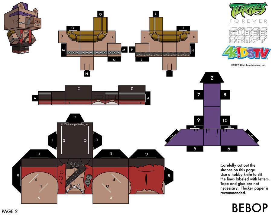 1988 Bebop TMNT Cubee 2 of 2 by etchings13 on DeviantArt
