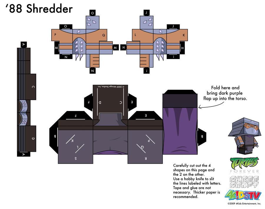 Как сделать руку шредера из бумаги