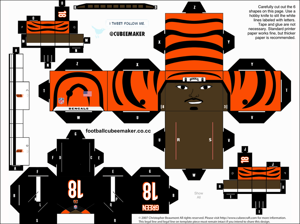 AJ Green Bengals Cubee By Etchings13
