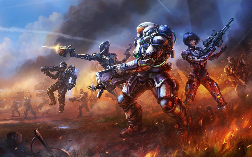 Warside battle art by AKIRAwrong
