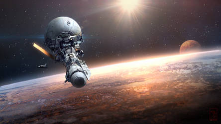 Orbital Station by AKIRAwrong