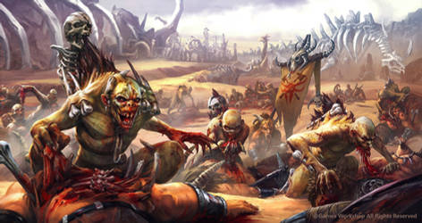 Crypt Ghouls vs Beastmen by AKIRAwrong