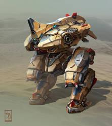 Rhino desert by AKIRAwrong