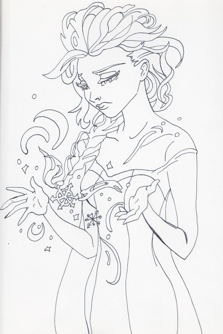 Unofficial Frozen Coloring Book Page Elsa By MyThoughtsAreDeep On DeviantArt