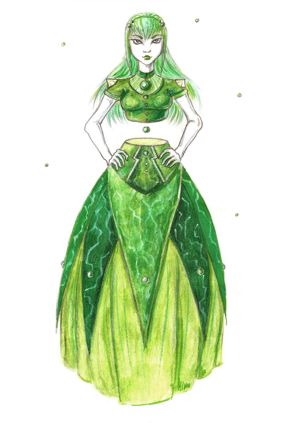 Malachite Princess by silverpen1431