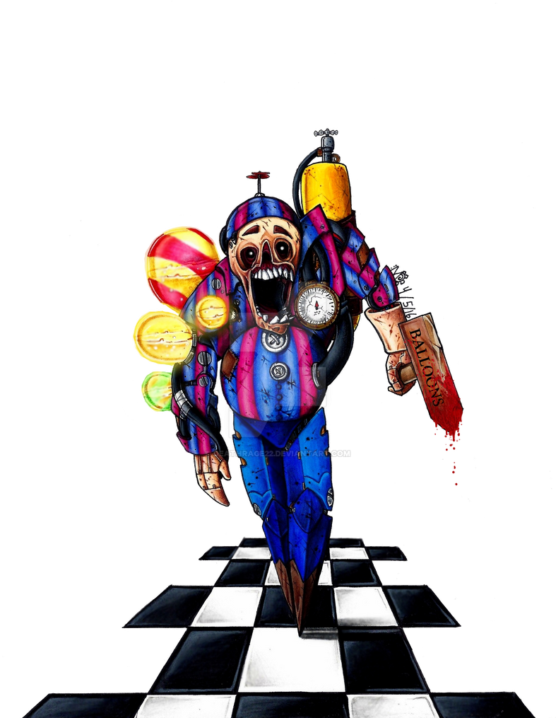 94 Fnaf Coloring Pages Balloon Boy