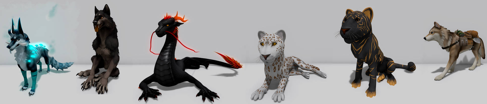 Second Life feral avies collection