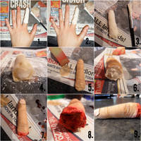 How to: Severed Finger by JessicatPaintsFaces