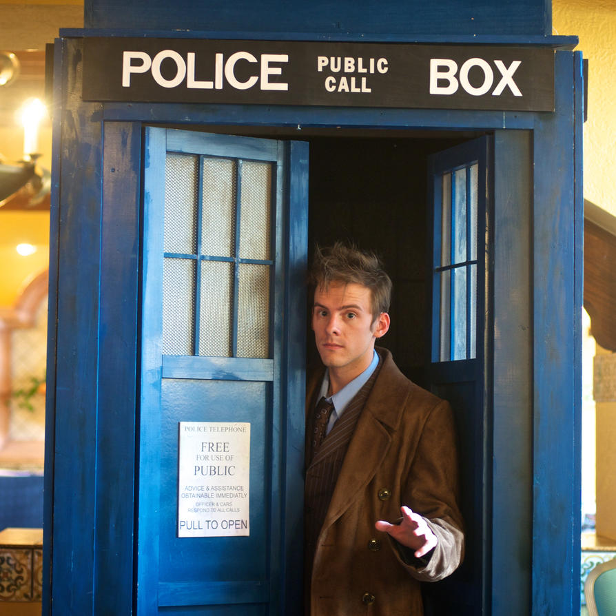 10th Doctor and the Tardis by Immenor on DeviantArt