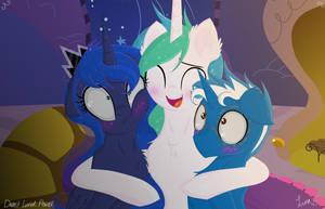 Commissioned by cedricc666: hugs by Darkest-Lunar-Flower