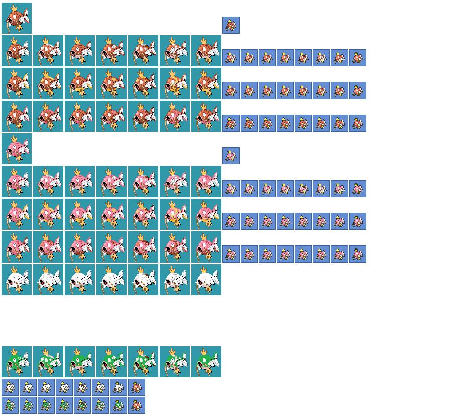 Magikarp Patterns And Varation Sprites Plus Update By Pikafan40 On Magnificent Magikarp Jump Patterns