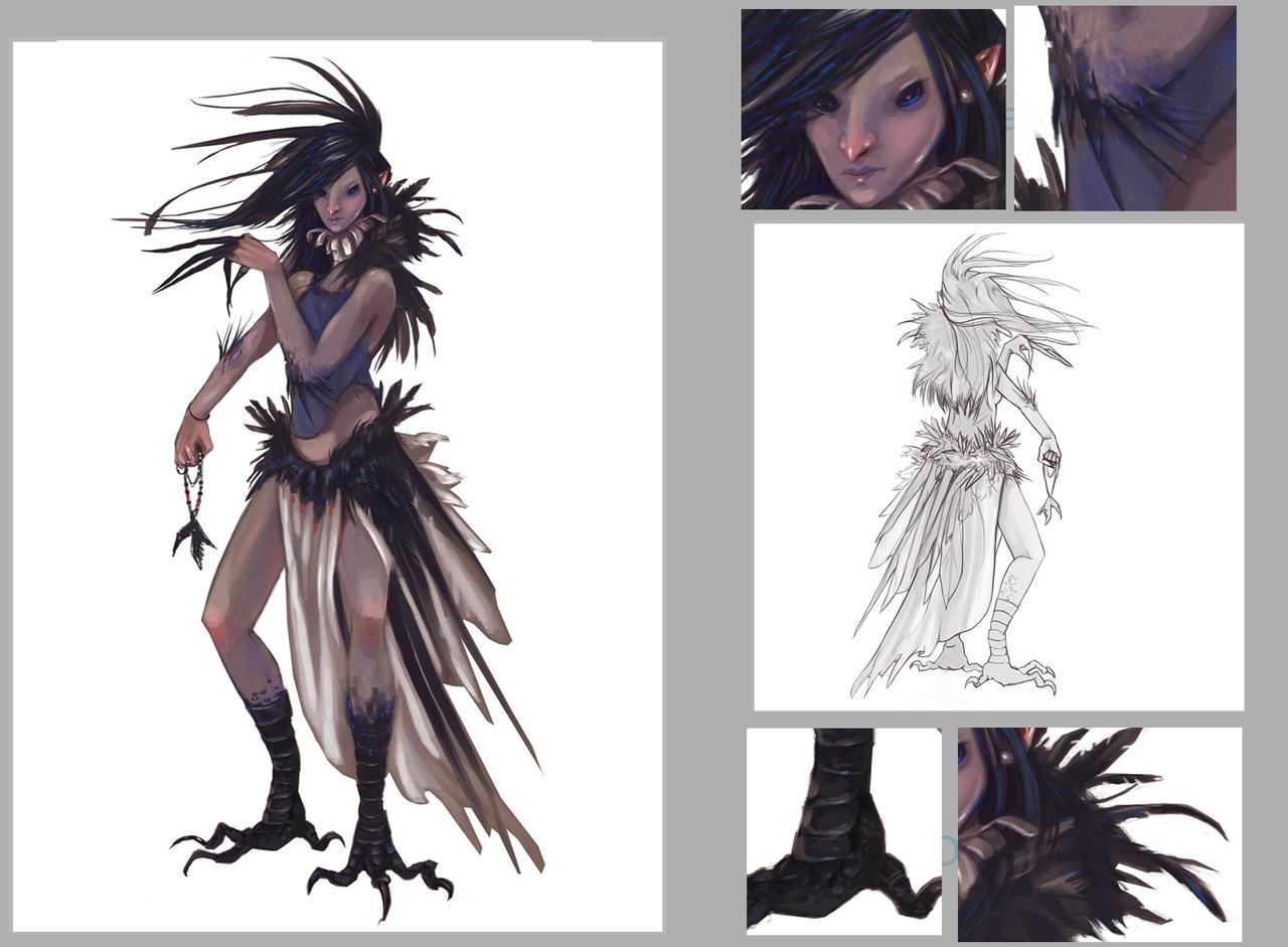 raven woman by firesprite