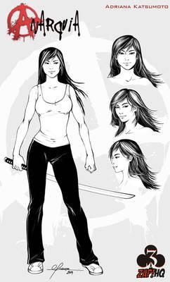 Model Sheet: Adriana Katsumoto