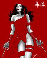 Day 14: Elektra by cynthiafranca