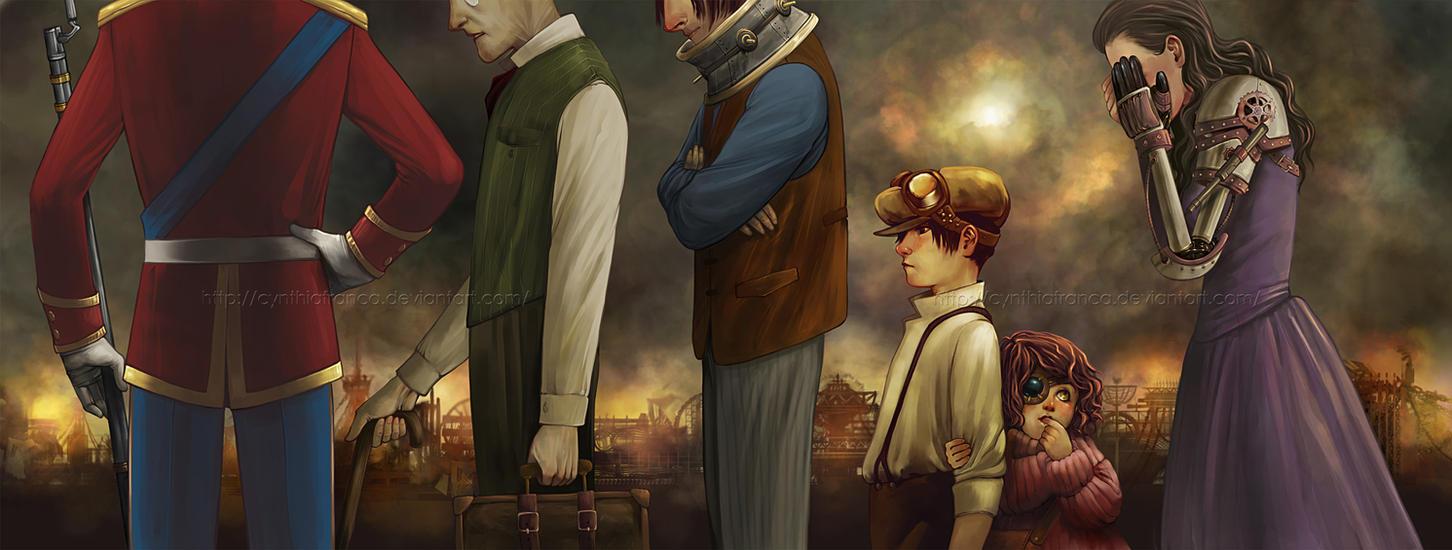 Steampunk Scene by cynthiafranca