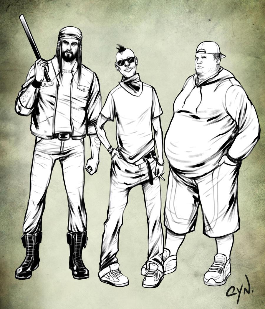 Gang by cynthiafranca