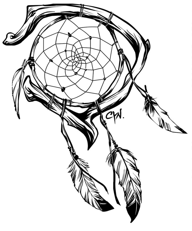 Dream Catcher Tattoos Drawings