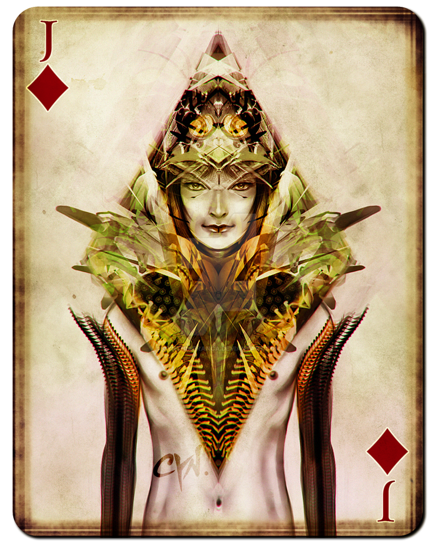 Playing Cards - Jack of Diamonds by cynthiafranca