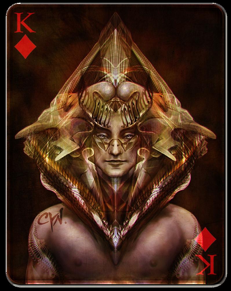 King of Diamonds - Black Version by cynthiafranca