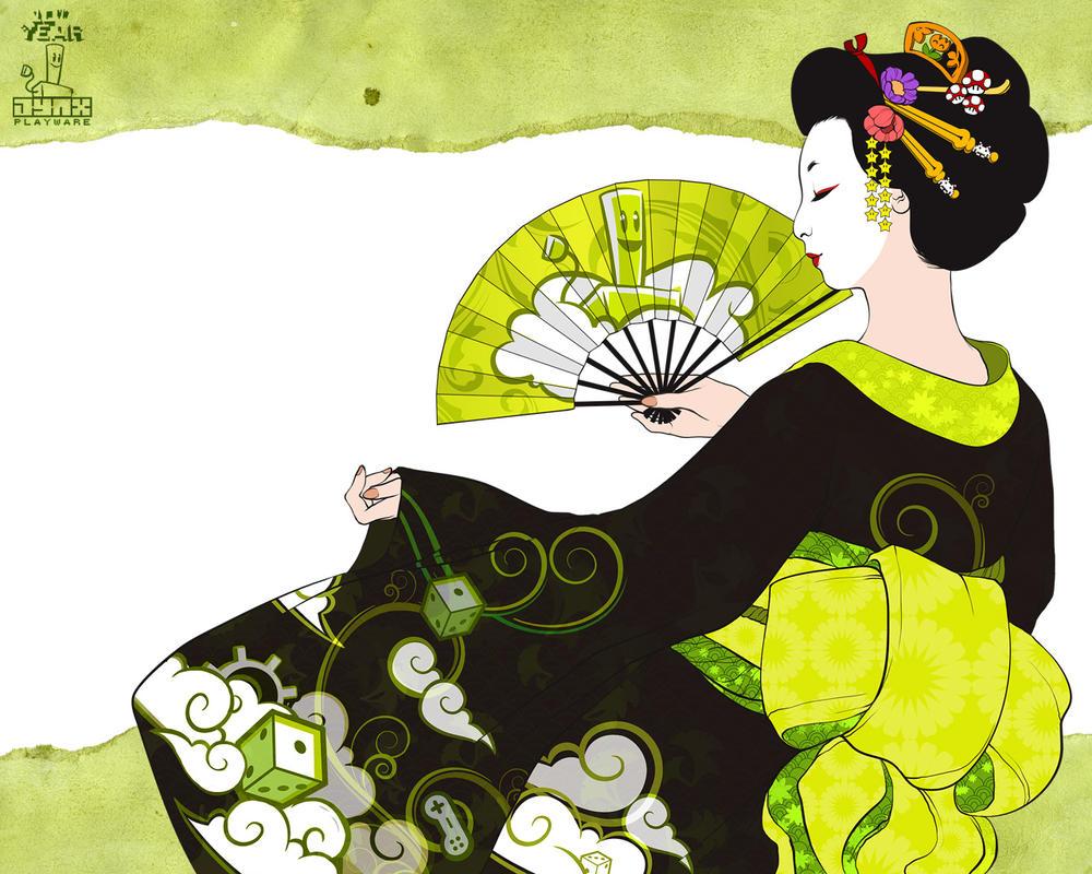 Jynx Walls: Geisha by cynthiafranca