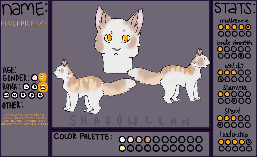 RSClans - Shadowclan - Medicine Cat - Harebreeze by ResHusky
