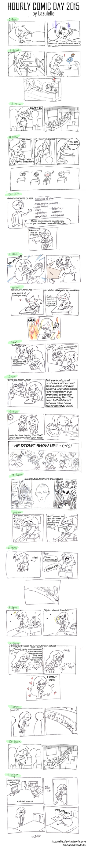 Hourly Comic Day 2015 by Lazulelle