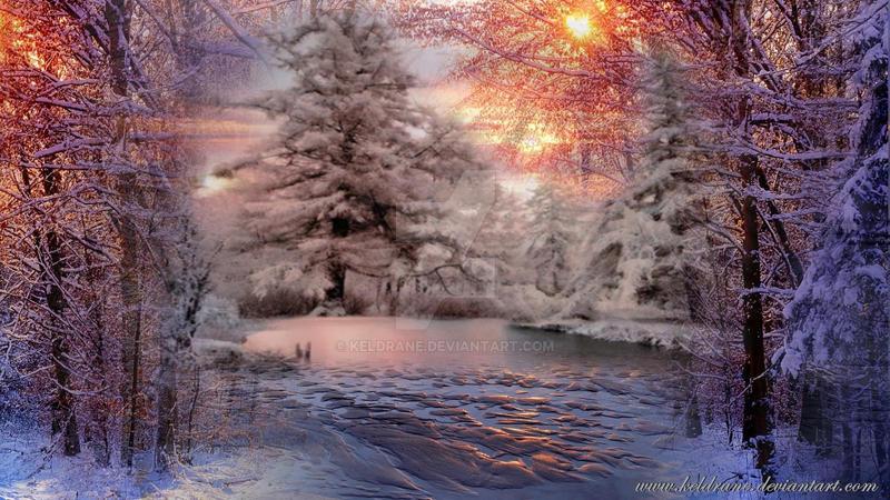Inverno sul lago by keldrane