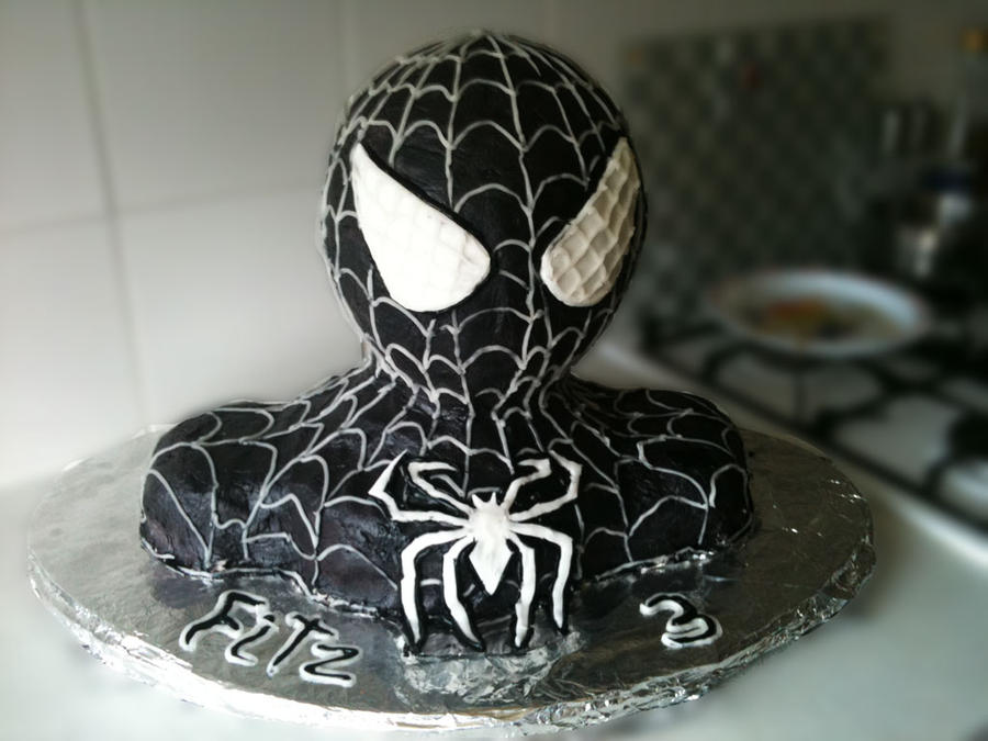 Black spiderman cakes - photo#2