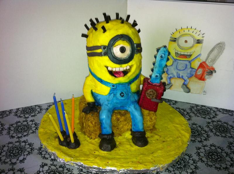 Edible Minion Cake Decorations