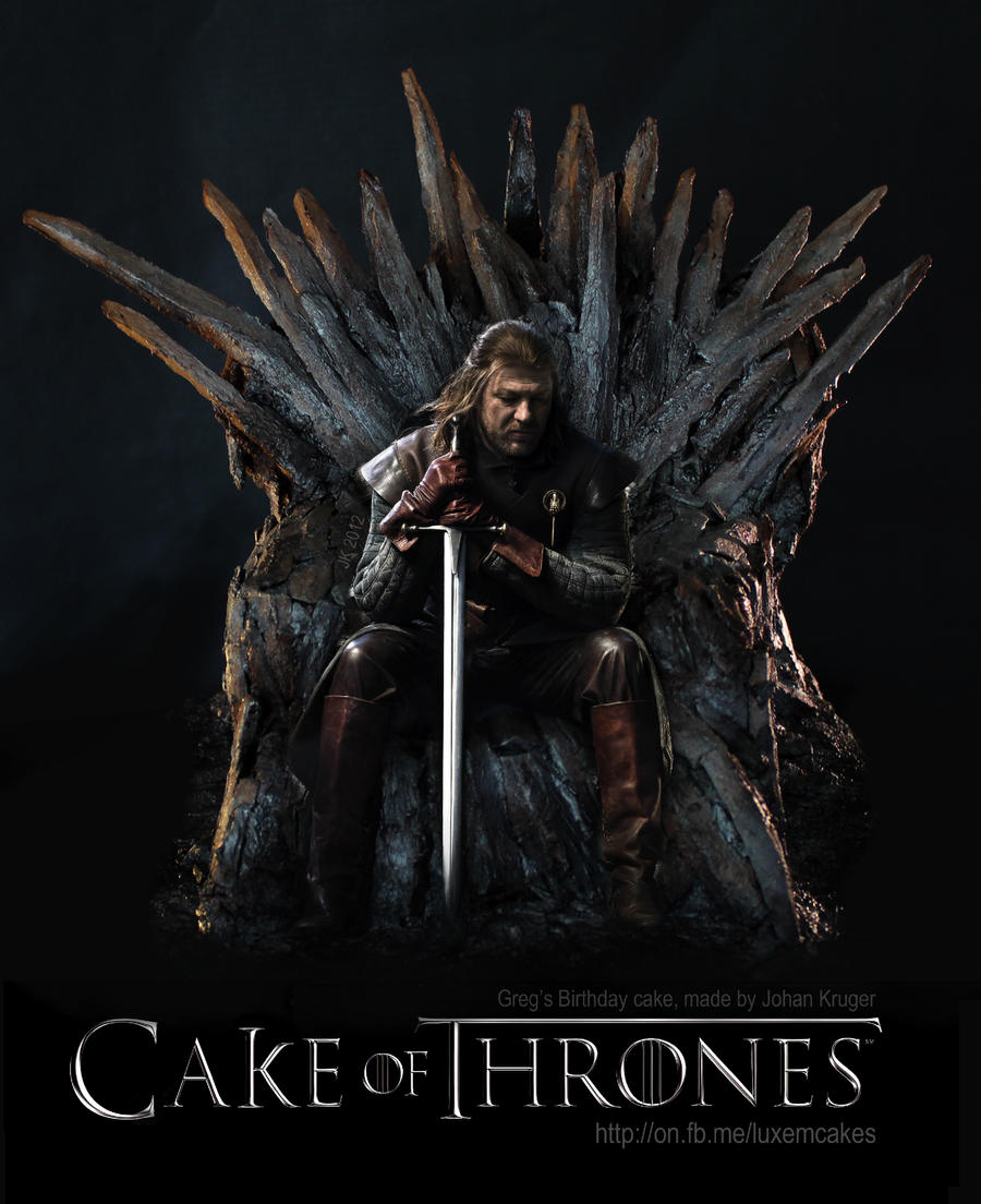 Cake Of Thrones Iron Throne Cake By Serseus On DeviantArt