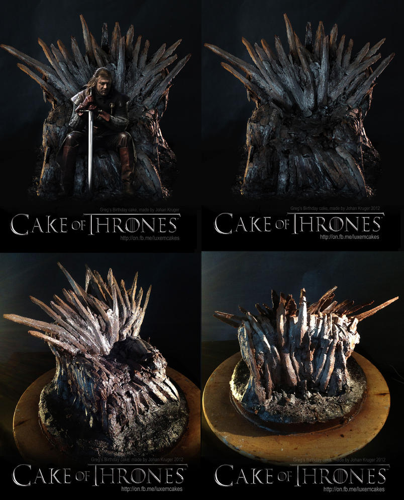 Game of thrones chair cake - Game Of Thrones Cake Iron Throne Cake By Serseus