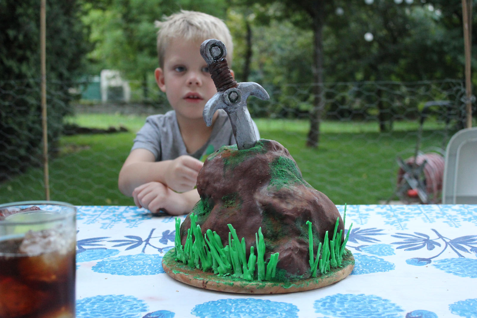 King Arthur Birthday Cake Recipe: Excalibur, Sword In Stone Cake From The Arthurian By