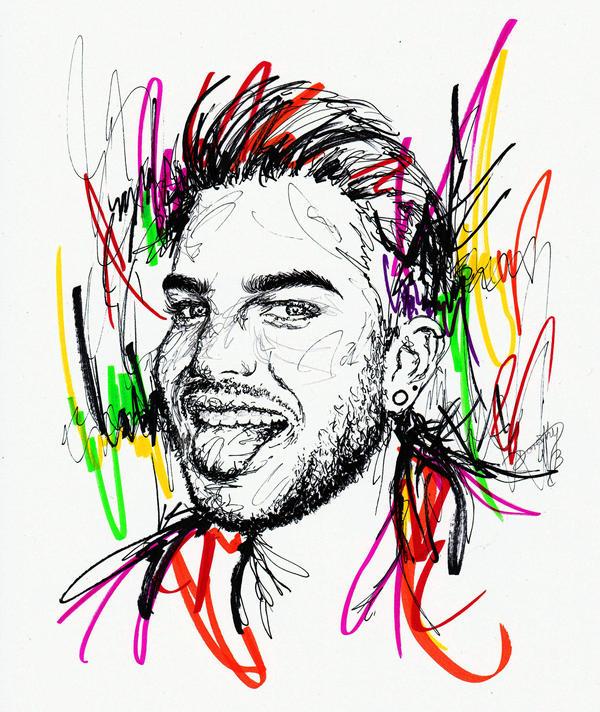 Adam Lambert - Tongue Out by dojjU