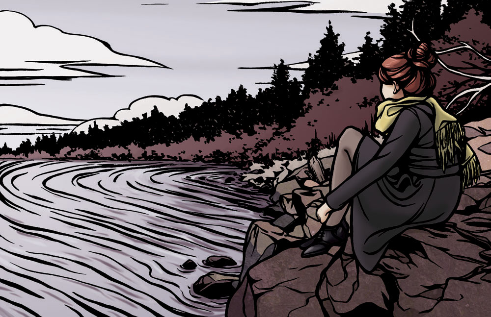 Lake Illustration by Tallychyck