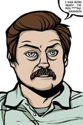 Parks and Rec - Ron Swanson by Tallychyck